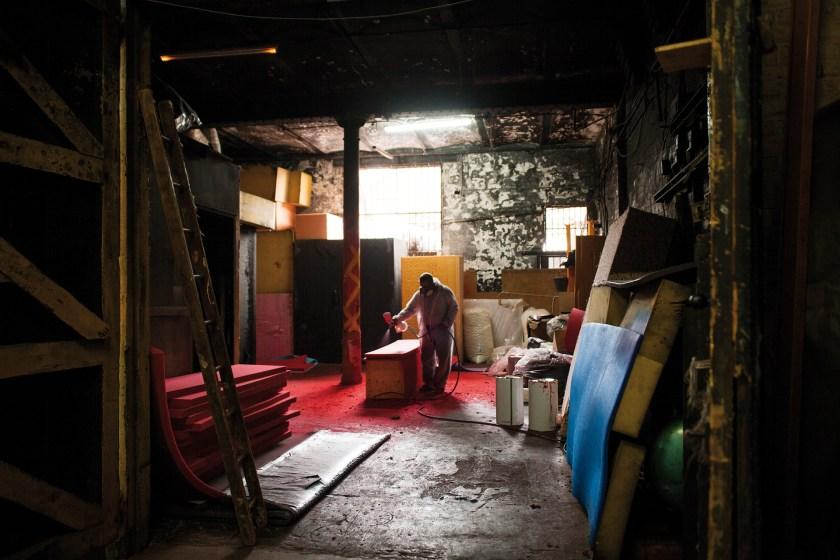 London Foam at Clapton's Tram Depot by Tilley Harris & Alex Pielak The Deserted Village, Photomonth 2014 (© Voist Ltd.)