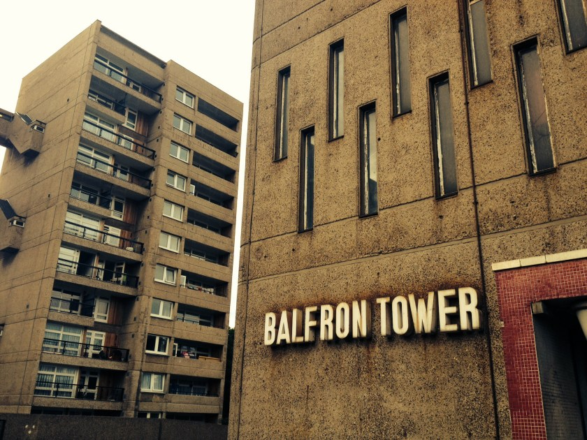 The Brutalist exterior of Balfron Tower (© Tilley Harris)