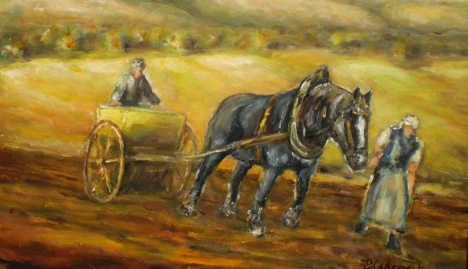 Štyri ročné obdobia s čiernym koňom: siatie - jar