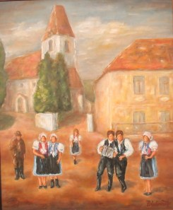 Račianska mládež pred kostolom