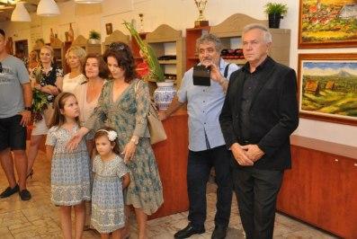Vernisáž výstavy na Vinobraní v Rači 2016 pri príležitosti 70.narodenín autora