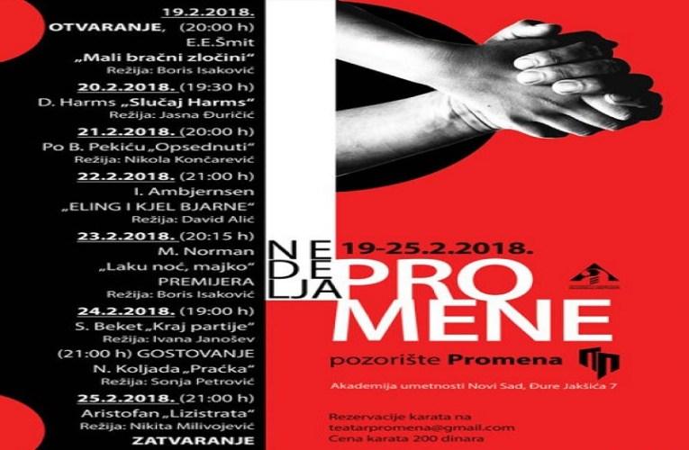 Pozorišni festival Nedelja Promene