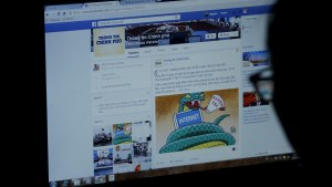 An internet user browses through a Vietnamese government's Facebook page in Hanoi, Vietnam in a file photo. Reuters