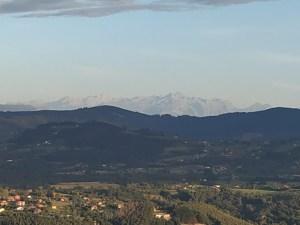 Picos desde Gijón a vista de globo