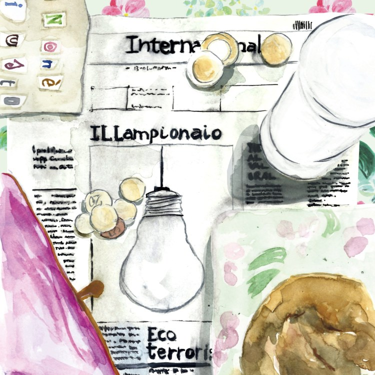 Il lampionaio, racconto di Chiara Mancinelli, illustrazione di Daniela Calandra
