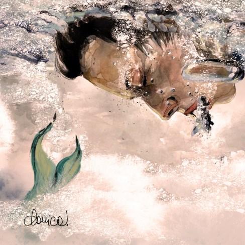 """Illustrazione di Daniela Calandra della poesia """"Tra le mie labbra"""" di Chiara Milazzo. La poesia si pubblica su Volat.blog."""
