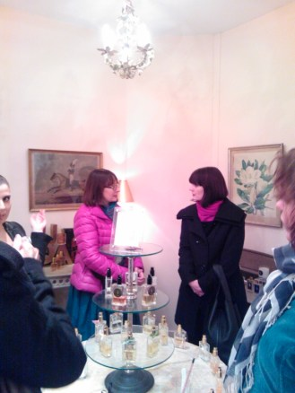 Sarah Mc Cartney (polymath and perfumer at 4160 Tuesdays) and Karen Gilbert (author and perfumery teacher).