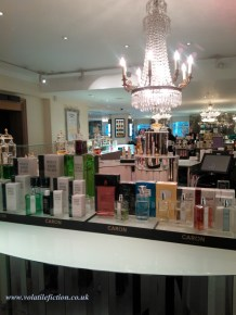 Caron counter at Fortnum's.