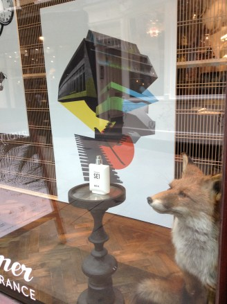 Avery perfumery fox window