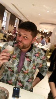 Nick and his G&T float at Fortnum & Mason