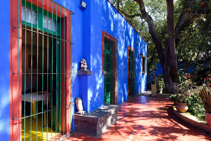 Courtyard at the Frida Kahlo Museum, Coyoacan, Mexico City