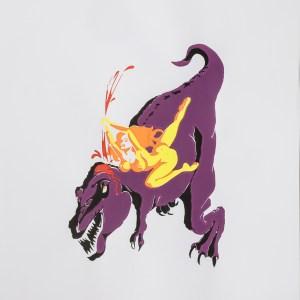 Sérigraphie «Tuer tous les monstres – Dinosaure» – Jim Fauvet