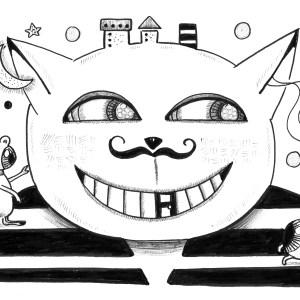 Œuvre sur papier «Le chat fou 2» – Lia R.