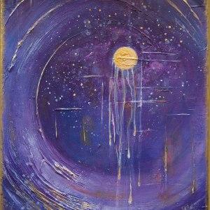 Carte postale – Lia R – La vague et la lune