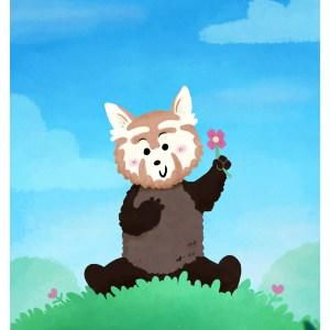 Sow Ay – Panda Roux – Print A5