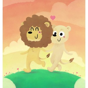Sow Ay – Couple de Lion – Print A5