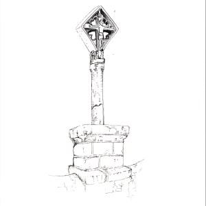 Croix en pierre de lave, Labessette (63)