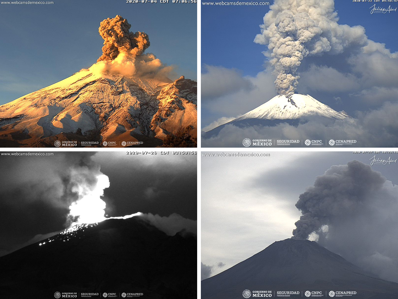 hight resolution of Global Volcanism Program   Popocatépetl