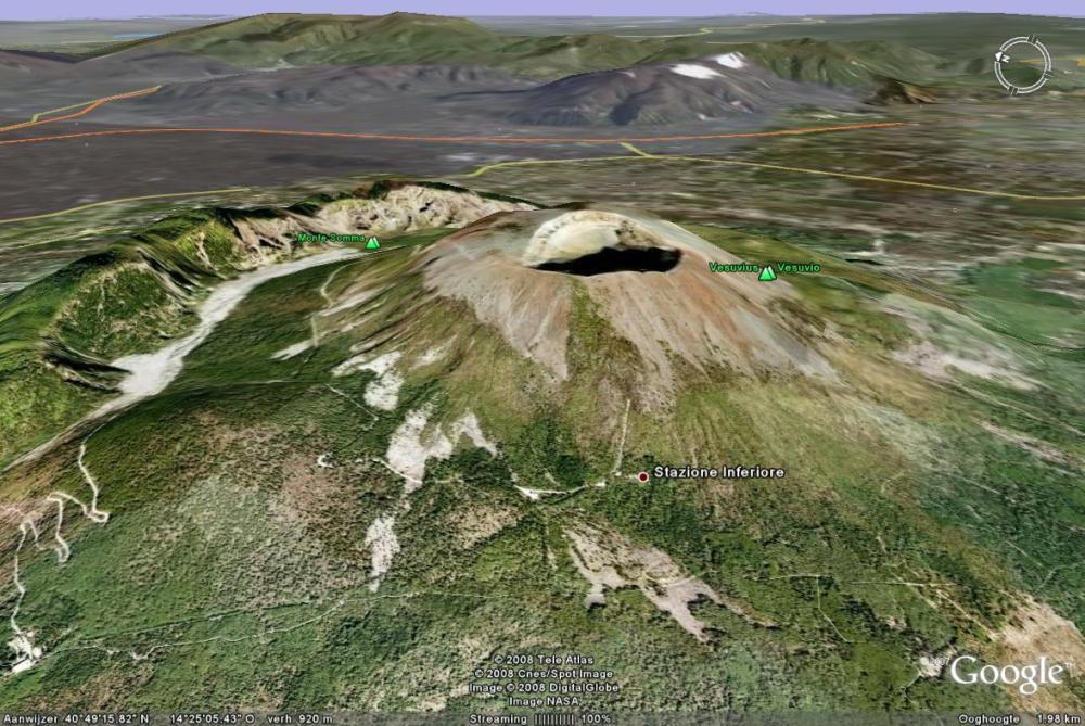 medium resolution of google earth image of vesuvius