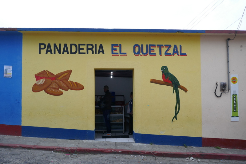 A bakery with the image of the quetzal