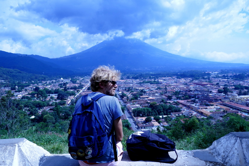 Tom at Cerro de la Cruz in Antigua Guatemala
