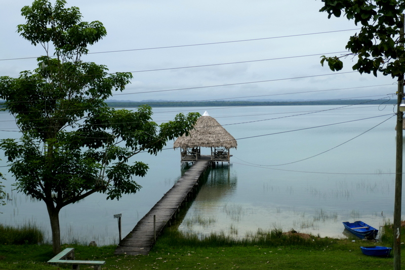 The view from our balcony in El Remate, Guatemala.