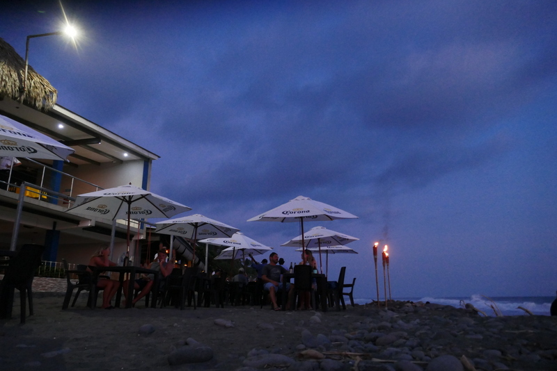 The beach in El Tunco, El Salvador.