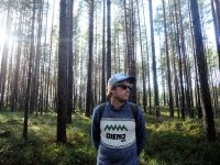 Tom in a forest of Luitemaa