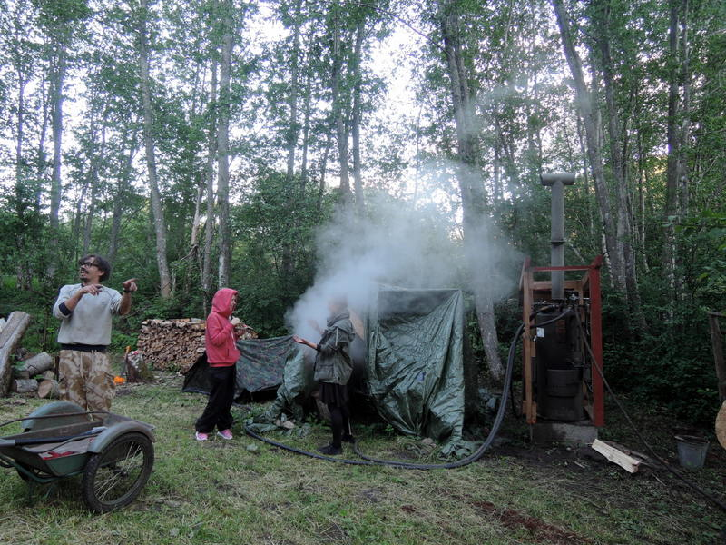 Sauna tent in Estonia