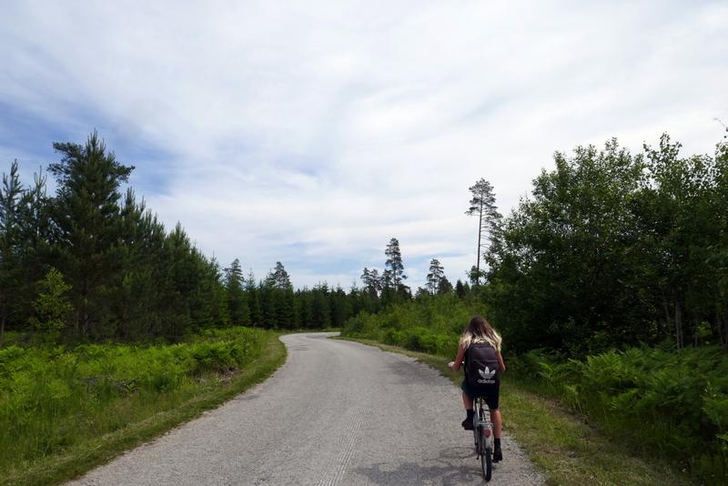Anete cycles near Kotinuka, Estonia.