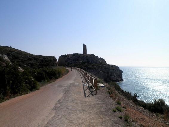 Cicloruta por la vía Verde del Mar