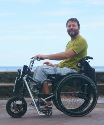 Handbike on the seafront