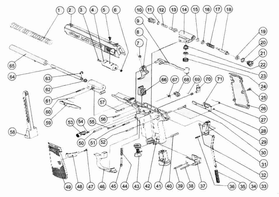 Каталог запчастей для пистолета Umarex Walther PPK/S от
