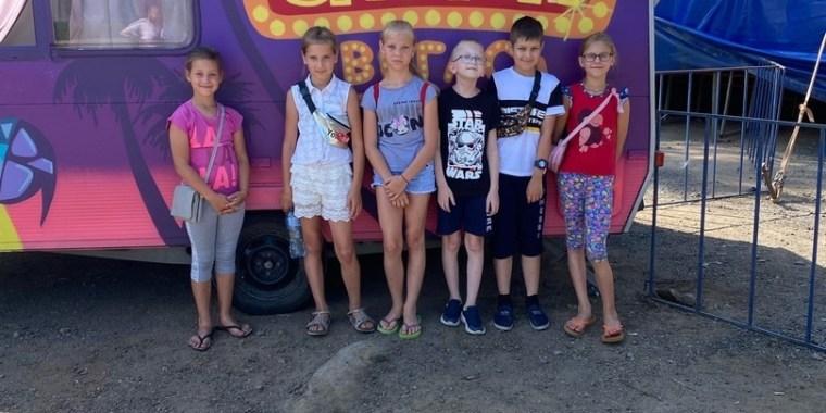 Дети Кисельни в цирке