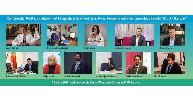 konferencija o društvenoj odgovornosti kompanija u Crnoj Gori