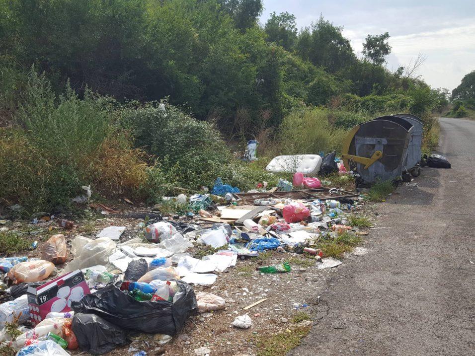 Mini deponija pored kontenjera, Bogićevići