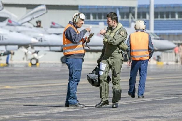 Ελληνας πιλότος της Πολεμικής Αεροπορίας