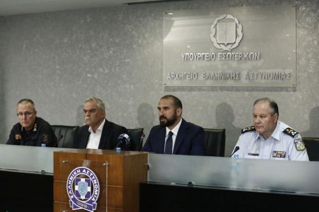 Συνέντευξη Τύπου του τότε Υπουργού Προστασίας του Πολίτη, Νίκου Τόσκα για τις πυρκαγίες (Φωτο: Eurokinissi)