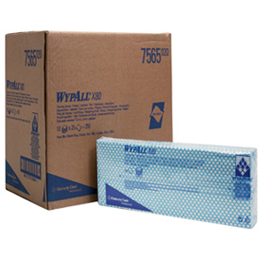 WypAll X80 Interfold Cloths – Blue (Pack of 25 Cloths)