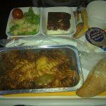 Pasta/Gemüsematsch- Lufthansa Rückflug New York