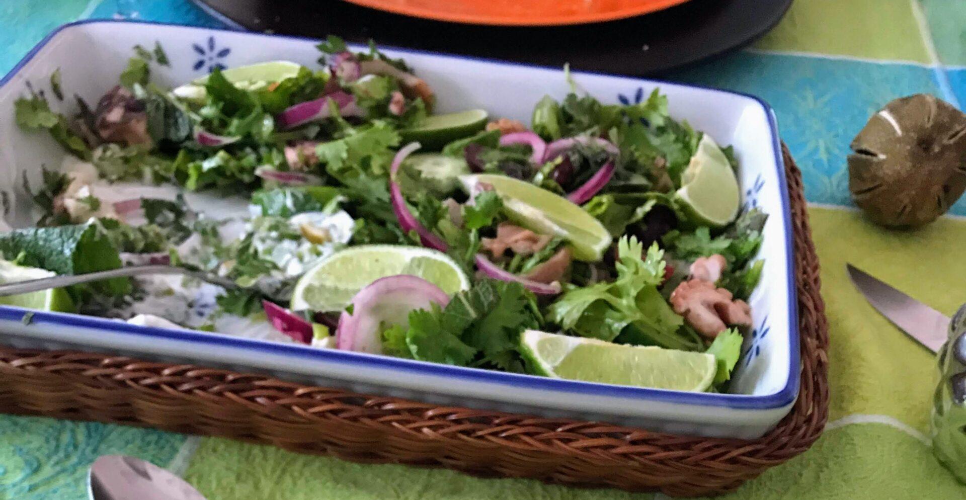 """Ein Menü mit Ossobuco, Oktopus und Mango-Papaya-Salat – nach """"Hayas Küche"""" von Haya Molcho"""