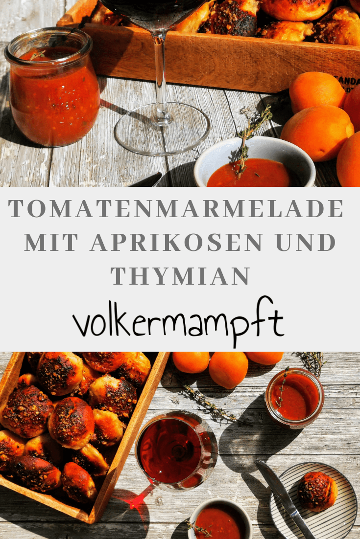 Pinterest Tomaten-Aprikosen-Thymian Marmelade