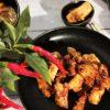 Koreanisches Hähnchen mit Knoblauch Khanpunggi