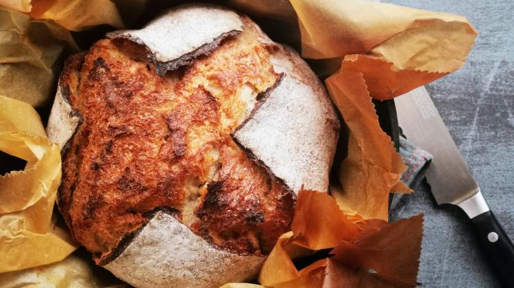 Buchweizenkruste zum World Bread Day - Brot backen im Topf