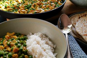 Cashew-Erbsen Curry - Rezept aus Sri Lanka