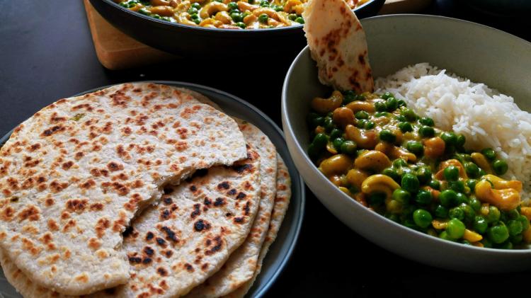 Kokos Fladenbrot mit Zwiebeln und Chili – Pol Roti – der Klassiker aus Sri Lanka