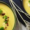 Rezept für Brokkoli-Creme-Suppe mit Mandeln