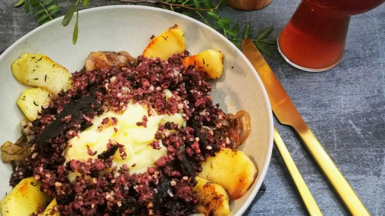 Himmel & Erd Rezept mit Grützwurst - eine Hamburger Spezialität