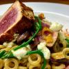 Nudeln mit Thunfisch Meeresspargel und Mozzarella Schaum - pasta-tuna