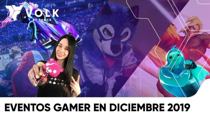 eventos gamer diciembre 2019